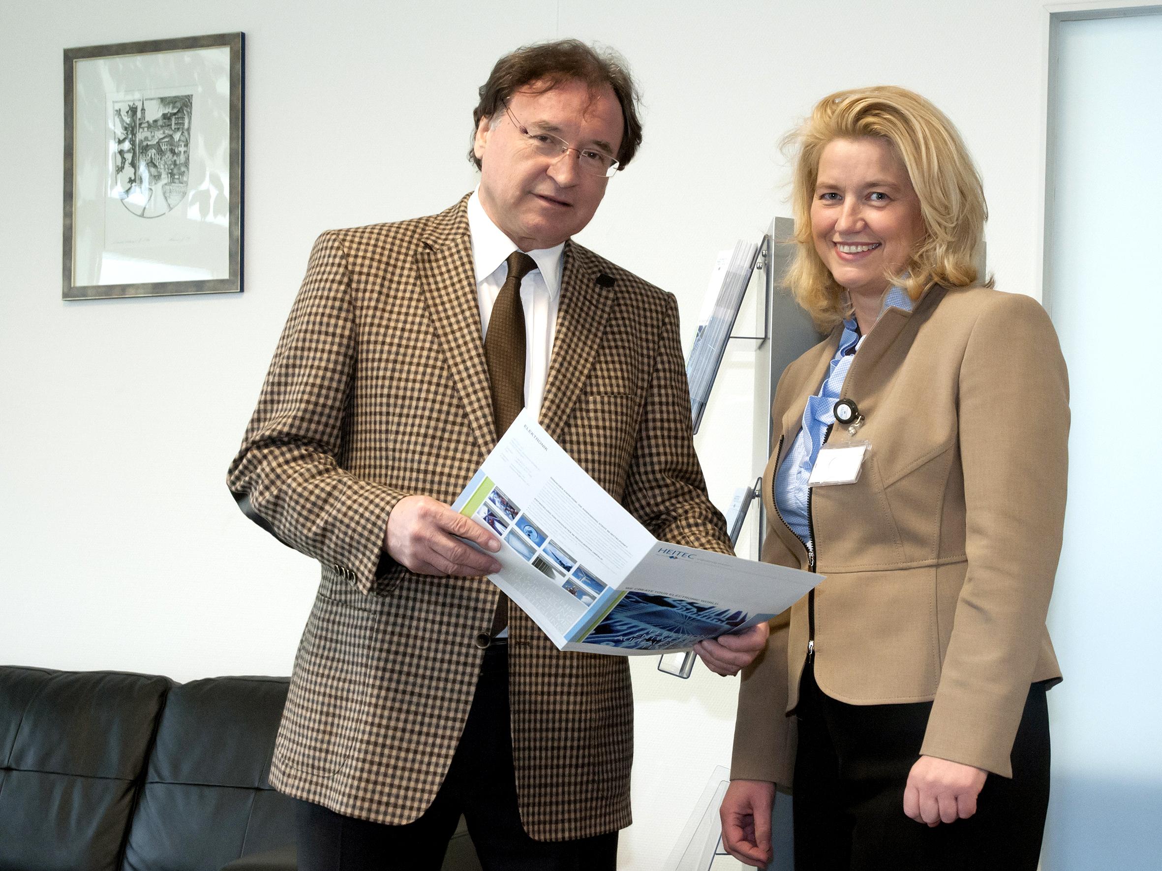 heitec Gründer Herr Heindl mit Frau Ilse Dölle