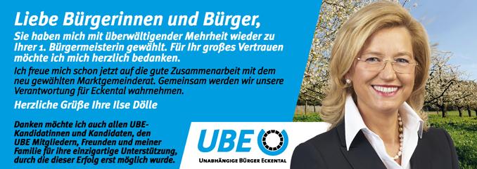 Bürgermeisterin Ilse Dölle